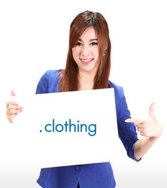 โดเมนเนมนามสกุล .CLOTHING