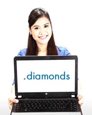 โดเมนเนมนามสกุล .DIAMONDS